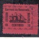 Sellos: VENEZUELA 88 USADA, BARCO, VAPOR -BANRIGH-, . Lote 23788524