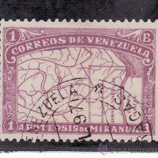 Sellos: VENEZUELA 58 USADA, CUENCA DEL ORINOCO, 80 ANIVº MUERTE DEL GENERAL FRANCISCO DE MIRANDA, . Lote 23788695