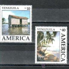 Sellos: VENEZUELA 1510/1 SIN CHARNELA, TEMA UPAEP, EL MEDIO NATURAL QUE VIERON LOS DESCUBRIDORES, . Lote 24261032