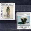 Sellos: VENEZUELA 1459/60 SIN DENTAR SIN CHARNELA, TEMA UPAEP, PUEBLOS PRECOLOMBINOS, USOS Y COSTUMBRES . Lote 24261088