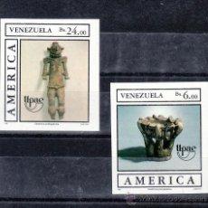Sellos: VENEZUELA 1459/60 SIN DENTAR SIN CHARNELA, TEMA UPAEP, PUEBLOS PRECOLOMBINOS, USOS, COSTUMBRES. Lote 24261088