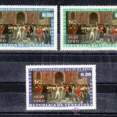 Sellos: VENEZUELA 619/21 SIN CHARNELA, 150º ANIVERSARIO DE LA INDEPENDENCIA . Lote 24301280