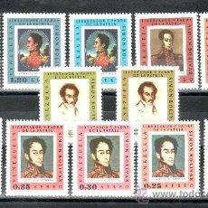 Sellos: VENEZUELA A 895/906 SIN CHARNELA, PINTURA, SIMON BOLIVAR, . Lote 37871066