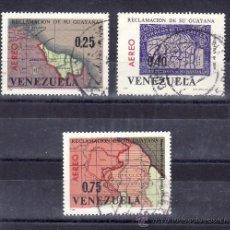 Sellos: VENEZUELA A 863/5 USADA, MAPA, RECLAMACION DE SU GUYANA. Lote 159371825