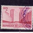Sellos: VENEZUELA A 605 USADA, TORRE DEL CENTRO SIMON BOICAR EN CARACAS. Lote 159371804