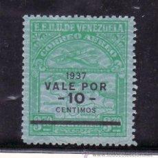 Sellos: VENEZUELA A 42 SIN GOMA, SOBRECARGADO, AVION, . Lote 24260521