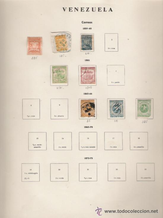 Sellos: GRAN COLECCION DE VENEZUELA MATASELLADA 1859/1963 ALTISIMO VALOR DE CATALOGO - Foto 2 - 30270791