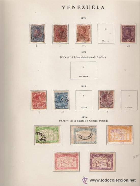 Sellos: GRAN COLECCION DE VENEZUELA MATASELLADA 1859/1963 ALTISIMO VALOR DE CATALOGO - Foto 3 - 30270791