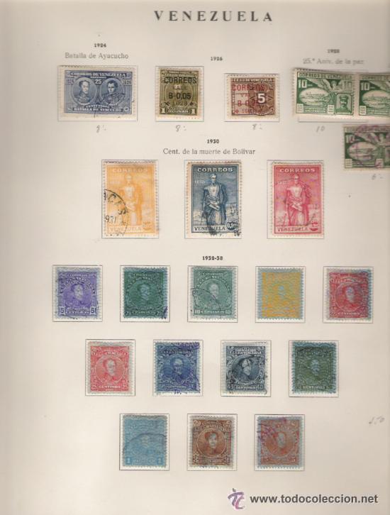 Sellos: GRAN COLECCION DE VENEZUELA MATASELLADA 1859/1963 ALTISIMO VALOR DE CATALOGO - Foto 5 - 30270791