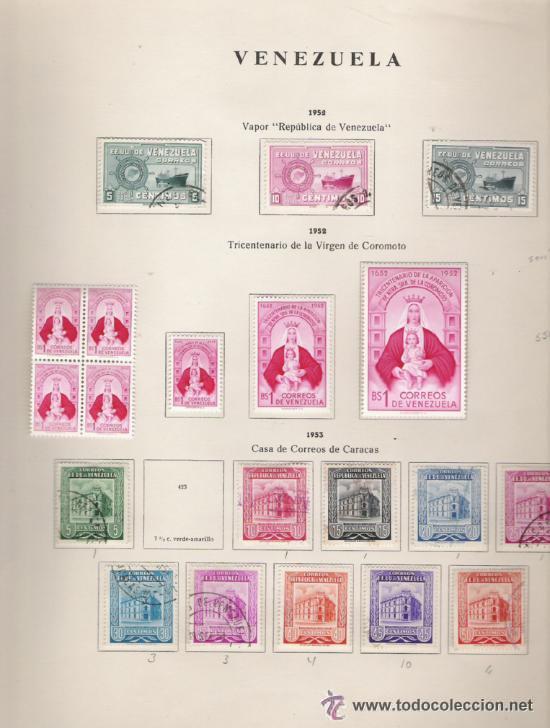 Sellos: GRAN COLECCION DE VENEZUELA MATASELLADA 1859/1963 ALTISIMO VALOR DE CATALOGO - Foto 8 - 30270791