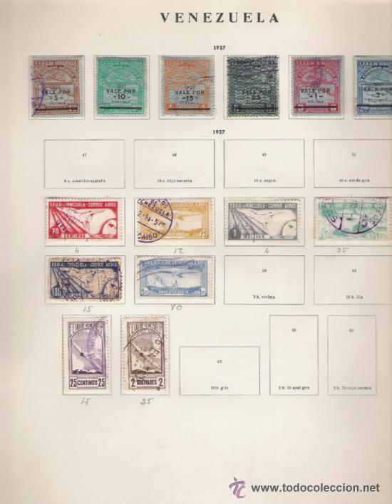 Sellos: GRAN COLECCION DE VENEZUELA MATASELLADA 1859/1963 ALTISIMO VALOR DE CATALOGO - Foto 11 - 30270791