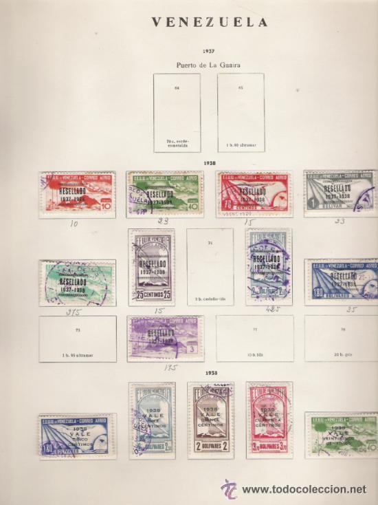 Sellos: GRAN COLECCION DE VENEZUELA MATASELLADA 1859/1963 ALTISIMO VALOR DE CATALOGO - Foto 12 - 30270791