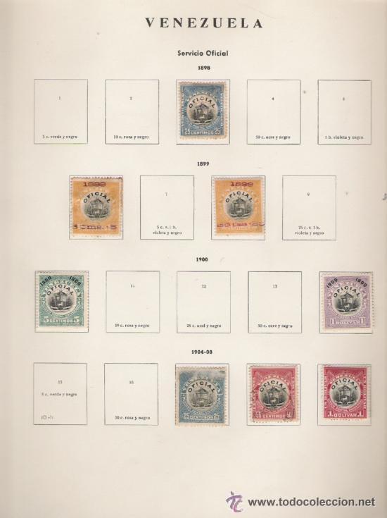 Sellos: GRAN COLECCION DE VENEZUELA MATASELLADA 1859/1963 ALTISIMO VALOR DE CATALOGO - Foto 14 - 30270791
