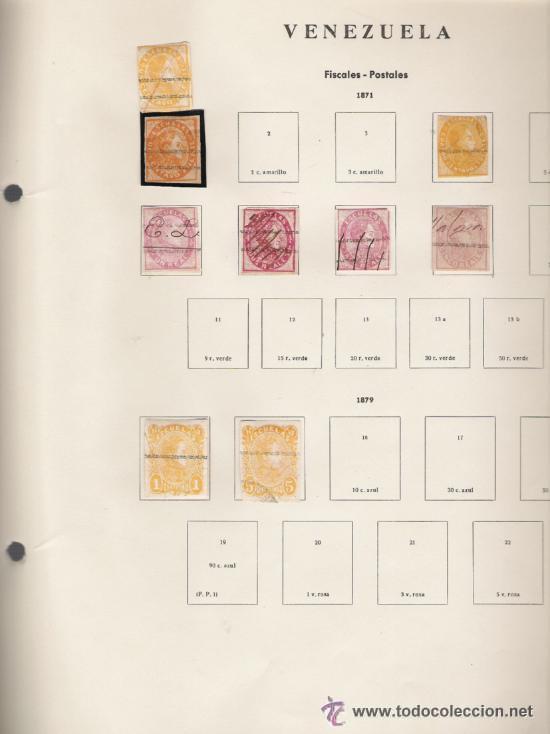 Sellos: GRAN COLECCION DE VENEZUELA MATASELLADA 1859/1963 ALTISIMO VALOR DE CATALOGO - Foto 15 - 30270791
