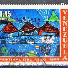 Sellos: VENEZUELA.- FESTIVAL DEL NIÑO 1969.-. Lote 30874953