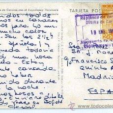 Sellos: MATASELLOS VENEZUELA 1965 - AEROPUERTO DE MAIQUERIA - AVIACION -TARJETA POSTAL: SALTOS HACHA CANAIMA. Lote 31637847