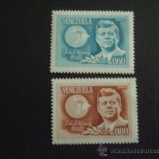 Sellos: VENEZUELA Nº YVERT A 860/1*** AÑO 1965. 2º ANIVERSARIO MUERTE J.F.KENNEDY. Lote 32618136