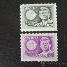 Sellos: VENEZUELA Nº YVERT 726/7*** AÑO 1965. 2º ANIVERSARIO MUERTE J.F. KENNEDY. Lote 33324140