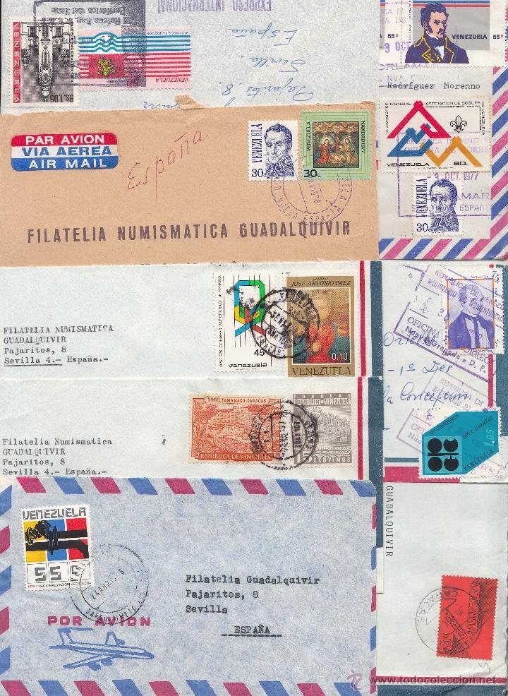 .HISTORIA POSTAL MODERNA CIRCULADA VENEZUELA 17 SOBRES Y 3 FRANQUEO MECANICO, DIVERSAS CALIDADES +FO (Sellos - Extranjero - América - Venezuela)