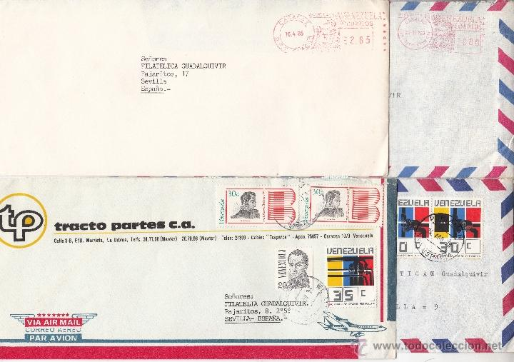 Sellos: .historia postal moderna circulada venezuela 17 sobres y 3 franqueo mecanico, diversas calidades +fo - Foto 3 - 41230944
