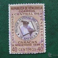 Sellos: VENEZUELA 1957,FESTIVAL DEL LIBRO DE AMERICA, YVERT 536. Lote 45669019