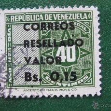 Sellos: VENEZUELA 1965, SELLO SOBRECARGADO, YVERT 721. Lote 45877144
