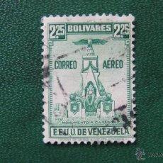 Timbres: VENEZUELA 1938, BATALLA DE CARABOBO,CORREO AEREO, YVERT 130. Lote 46115414