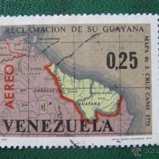 Sellos: VENEZUELA 1965, RECLAMACION DE SU GUAYANA, CORREO AEREO, YVERT 863. Lote 46120920