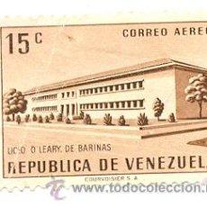 Sellos: 2-VENE592AE. SELLO USADO VENEZUELA. YVERT Nº 592 AÉREO. LICEO O. LEARY DE BARINAS. Lote 46537238