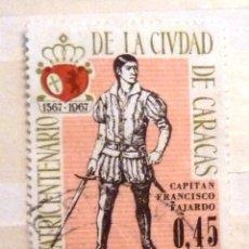 Sellos: SELLOS VENEZUELA 1967. USADO. IV CENTENARIO CIUDAD CARACAS.. Lote 47718253