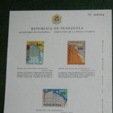 Sellos: VENEZUELA - REIVINDICANDO PARTE DE LA GUYANA BRITANICA 1965 - HOJA BLOQUE CORREO AEREO NUEVO**. Lote 48685057