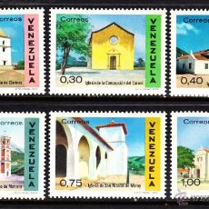 Sellos: VENEZUELA 799/804** - AÑO 1970 - ARQUITECTURA COLONIAL - IGLESIAS Y CATEDRALES. Lote 48748022