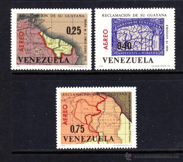 VENEZUELA AEREO 863/65** - AÑO 1965 - REINVINDICACIÓN DE LA GUYANA - MAPAS (Sellos - Extranjero - América - Venezuela)