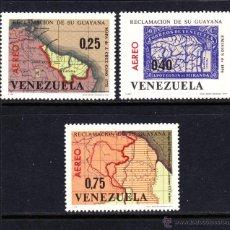 Sellos: VENEZUELA AEREO 863/65** - AÑO 1965 - REINVINDICACIÓN DE LA GUYANA - MAPAS. Lote 48748085