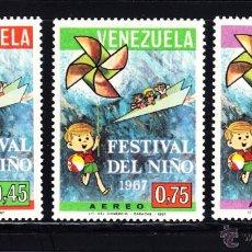 Francobolli: VENEZUELA AÉREO 925/27* - AÑO 1967 - FESTIVAL DEL NIÑO. Lote 202008686
