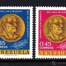 Sellos: VENEZUELA 685/86** - AÑO 1963 - CENTENARIO DEL NACIMIENTO DEL DOCTOR LUIS RAZETTI . Lote 48967275