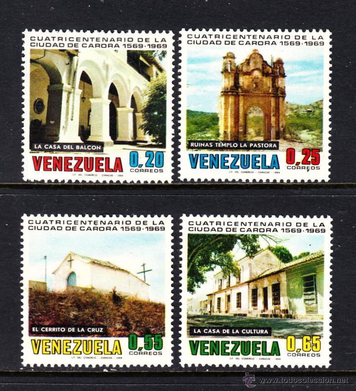 VENEZUELA 789/92* - AÑO 1969 - 4º CENTENARIO DE LA CIUDAD DE CARORA (Sellos - Extranjero - América - Venezuela)
