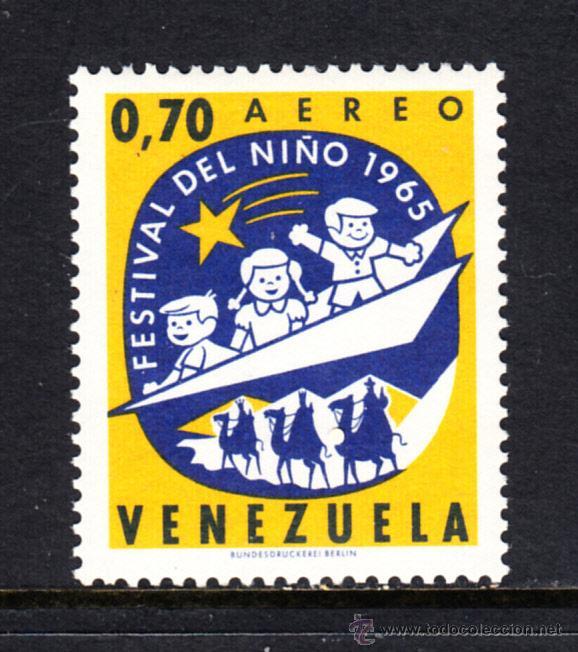 VENEZUELA AÉREO 872** - AÑO 1965 - FESTIVAL DEL NIÑO (Sellos - Extranjero - América - Venezuela)