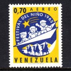 Sellos: VENEZUELA AÉREO 872** - AÑO 1965 - FESTIVAL DEL NIÑO. Lote 49104333
