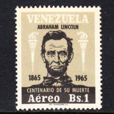 Sellos: VENEZUELA AEREO 888* - AÑO 1966 - CENTENARIO DE LA MUERTE DE ABRAHAM LINCOLN. Lote 49104372