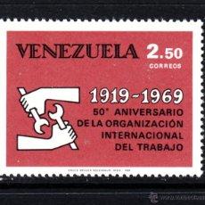 Sellos: VENEZUELA 780** - AÑO 1969 - 50º ANIVERSARIO DE LA ORGANIZACIÓN INTERNACIONAL DEL TRABAJO. Lote 49171573