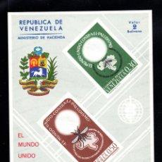 Sellos: VENEZUELA HB 10** - AÑO 1962 - ERRADICACIÓN DEL PALUDISMO. Lote 49221450