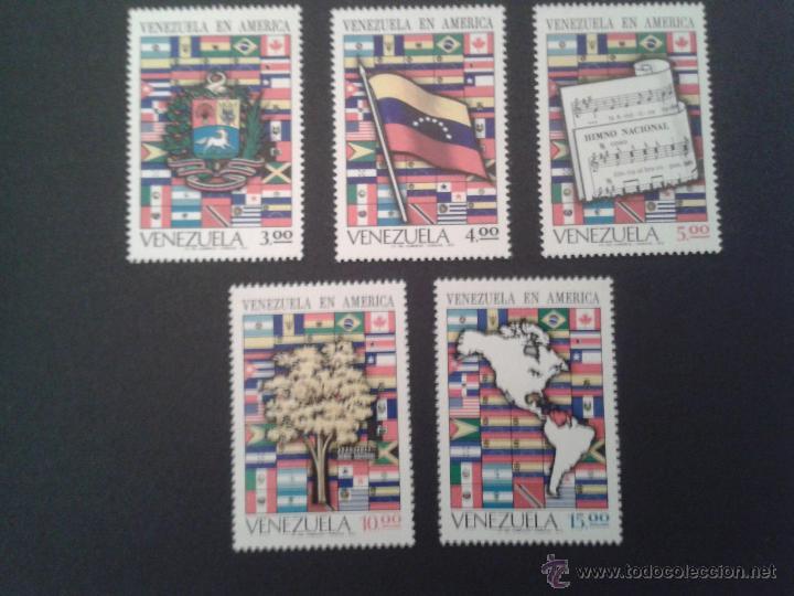 SELLOS VENEZUELA YVERT 841/5. NUEVOS SIN CHANELA. (Sellos - Extranjero - América - Venezuela)