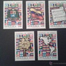 Sellos: SELLOS VENEZUELA YVERT 841/5. NUEVOS SIN CHANELA.. Lote 51937448
