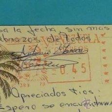 Sellos: POSTAL CIRCULADA DE CARACAS A VALENCIA. Lote 52158495