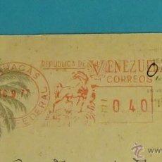 Sellos: POSTAL CIRCULADA DE CARACAS A VALENCIA. Lote 52158513