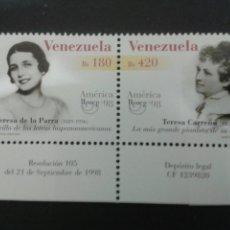 Sellos: SELLOS DE VENEZUELA. AMÉRICA UPAEP. YVERT 2153/4. SERIE COMPLETA NUEVA SIN CHARNELA.. Lote 52950855