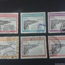Sellos: SELLOS DE VENEZUELA YVERT 612/14 + A 704/6. SERIE COMPLETA USADA.. Lote 52974066