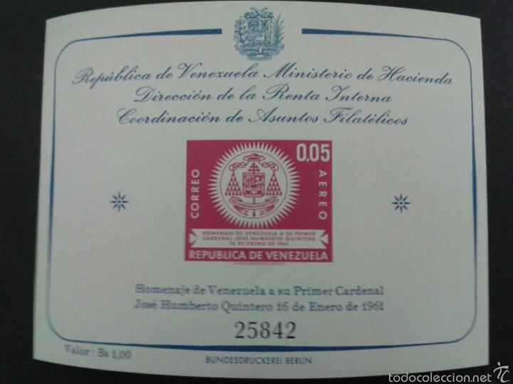 SELLOS DE VENEZUELA. YVERT HB 5. SERIE COMPLETA NUEVA SIN CHARNELA. (Sellos - Extranjero - América - Venezuela)