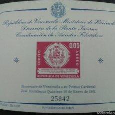Sellos: SELLOS DE VENEZUELA. YVERT HB 5. SERIE COMPLETA NUEVA SIN CHARNELA.. Lote 53039689